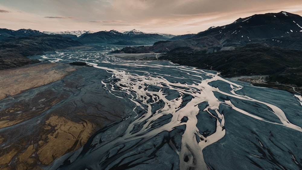aerial view photography of mountain range