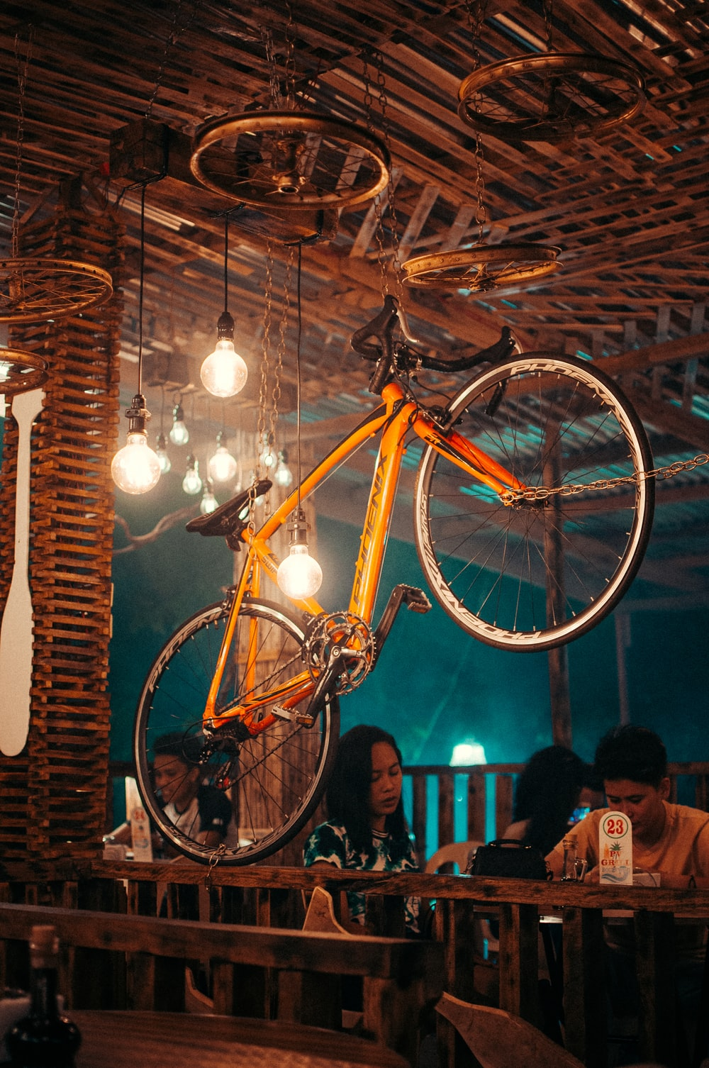 yellow and black bicycle