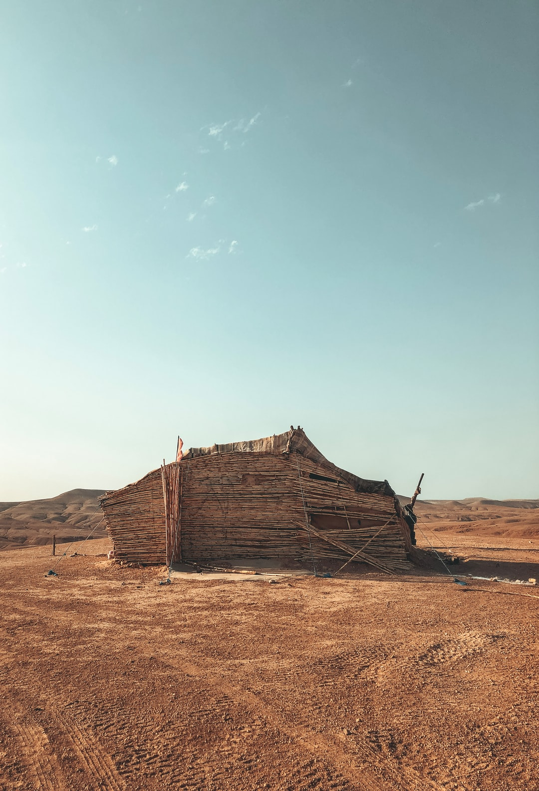 Berber tent in Morocco desert