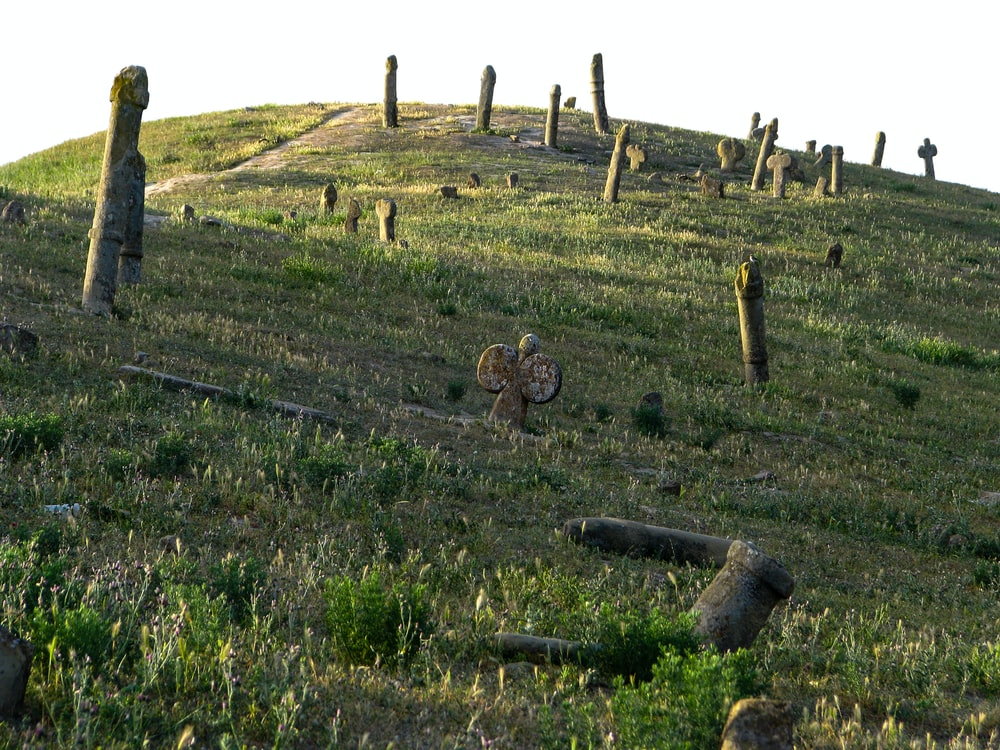 poles on hill