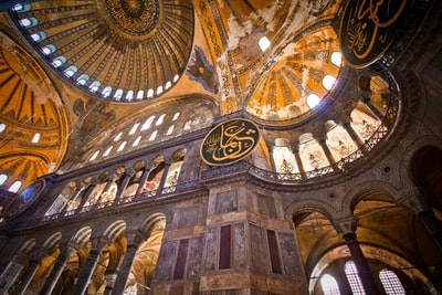brown concrete cathedral turkey zoom background