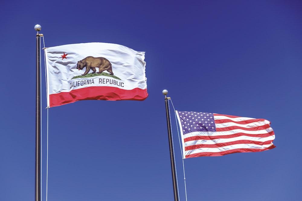 waving U.S.A flag