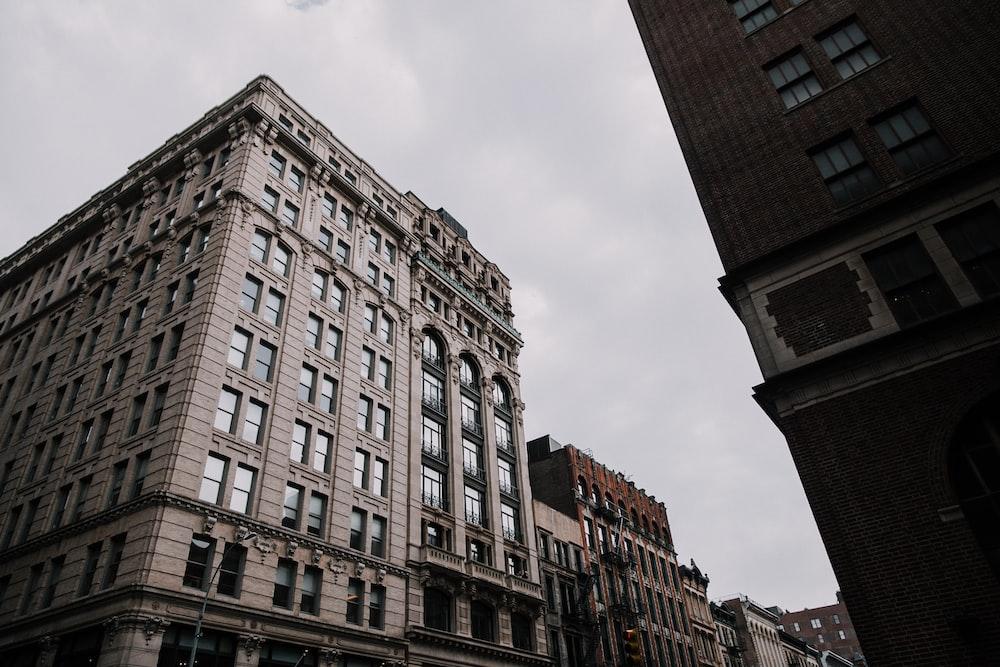 beige painted building