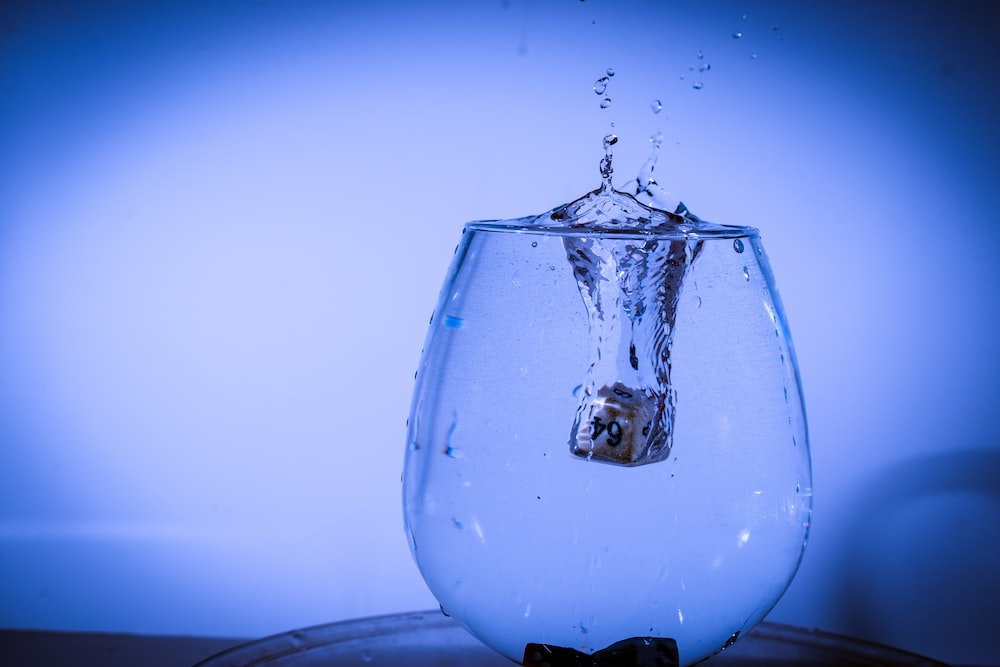 silver ring dipped in water
