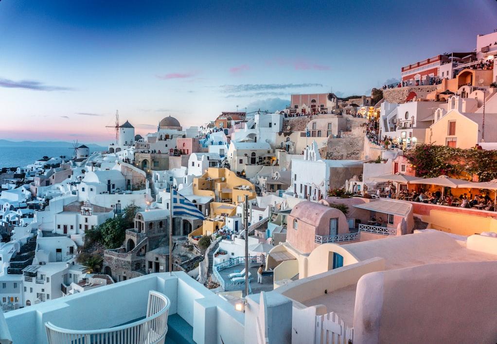 beautiful cities of Santorini