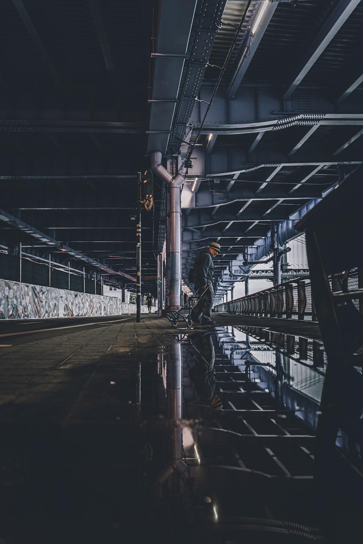 gray concrete road in tunnel