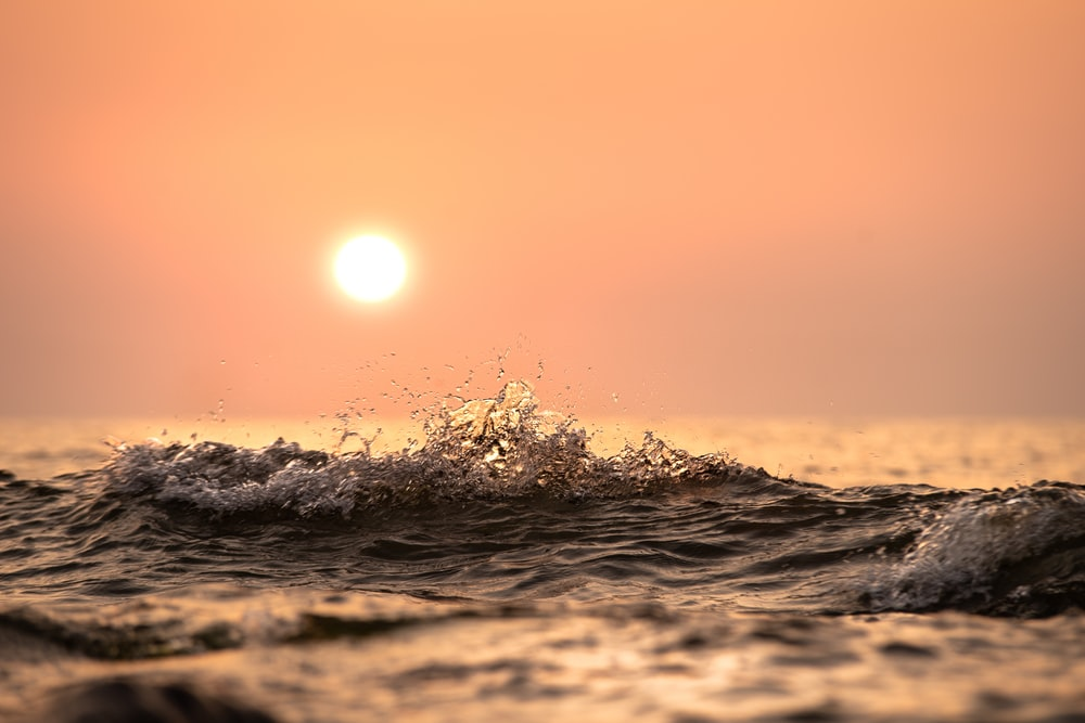 golden hour above body of water