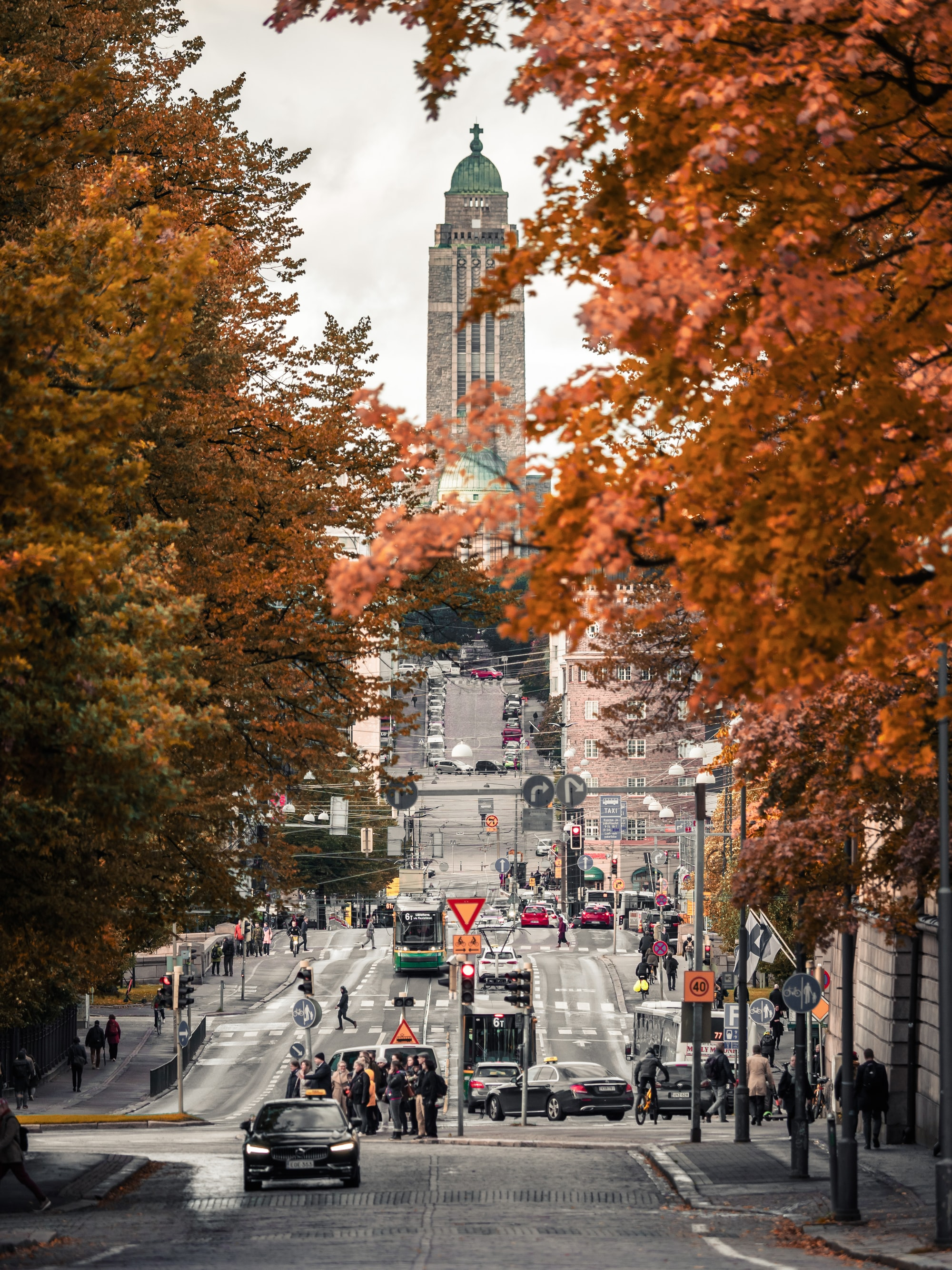 Autumn colours surround Helsinki.