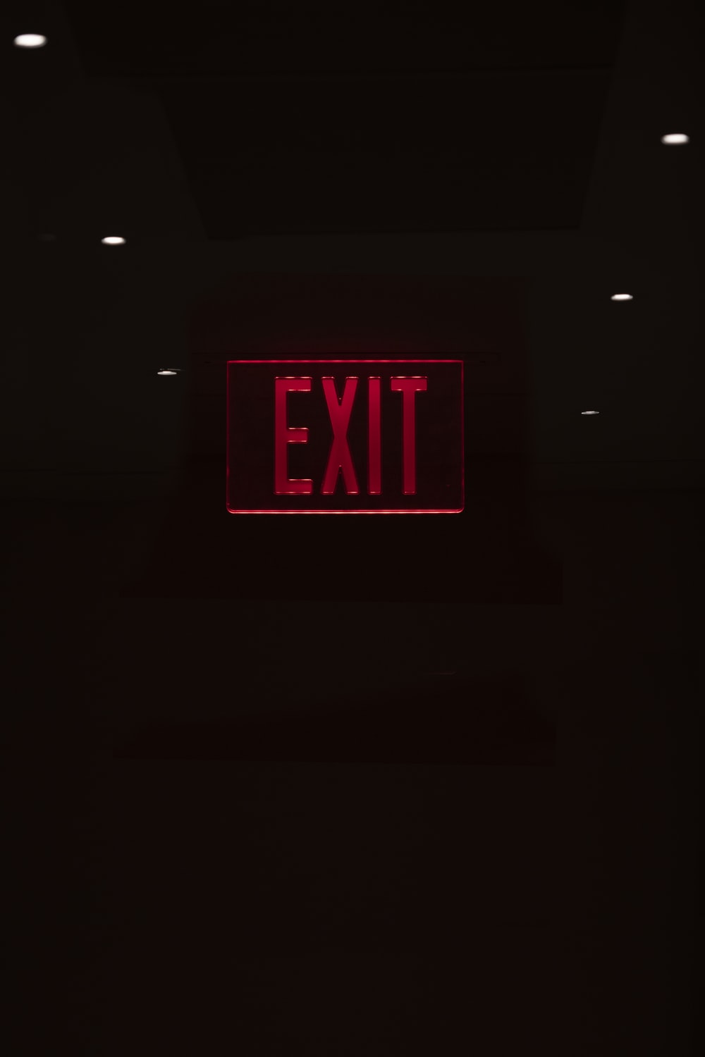 lighted LED exit sign