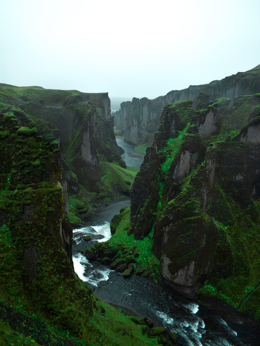 green cliffs
