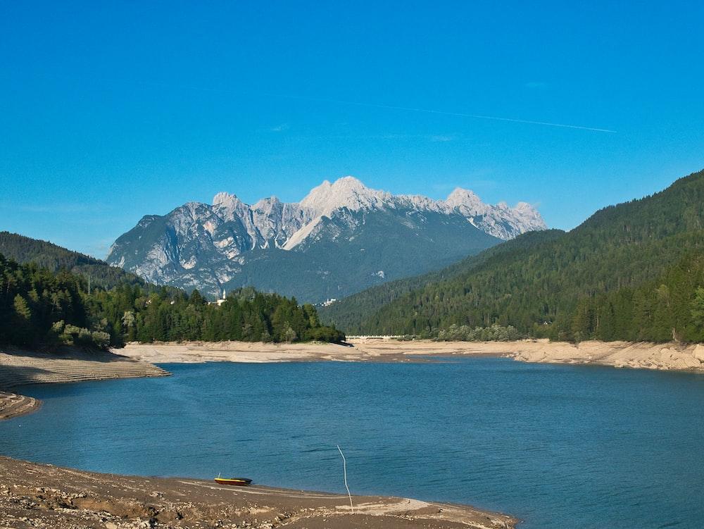 lake through the mountain