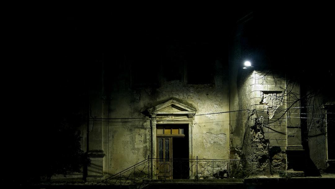 old building illuminated