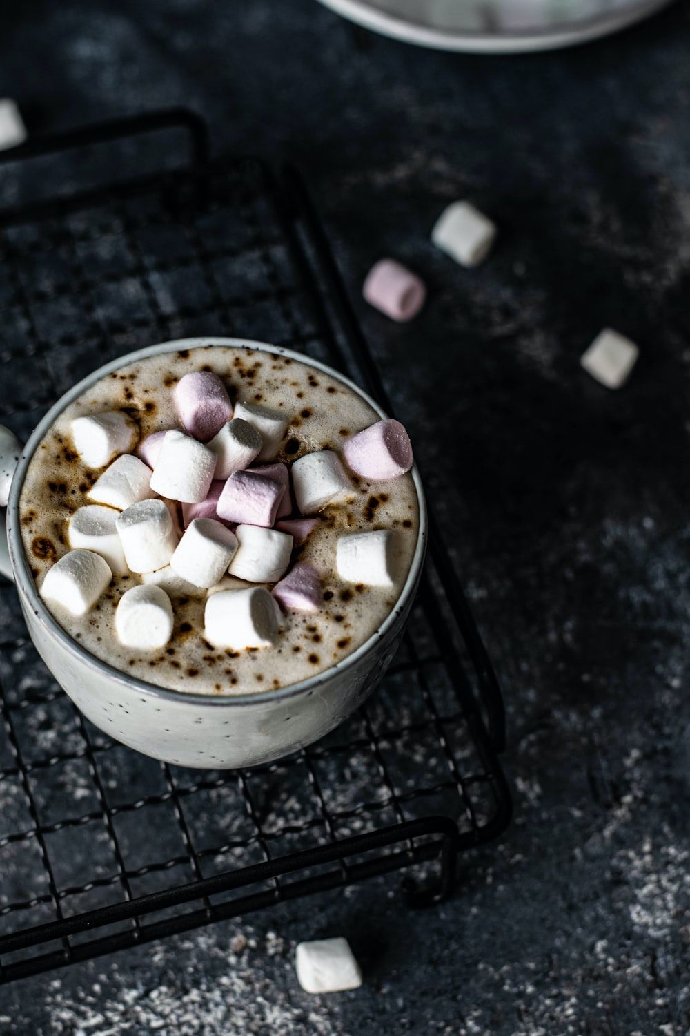 latte with marshmallow