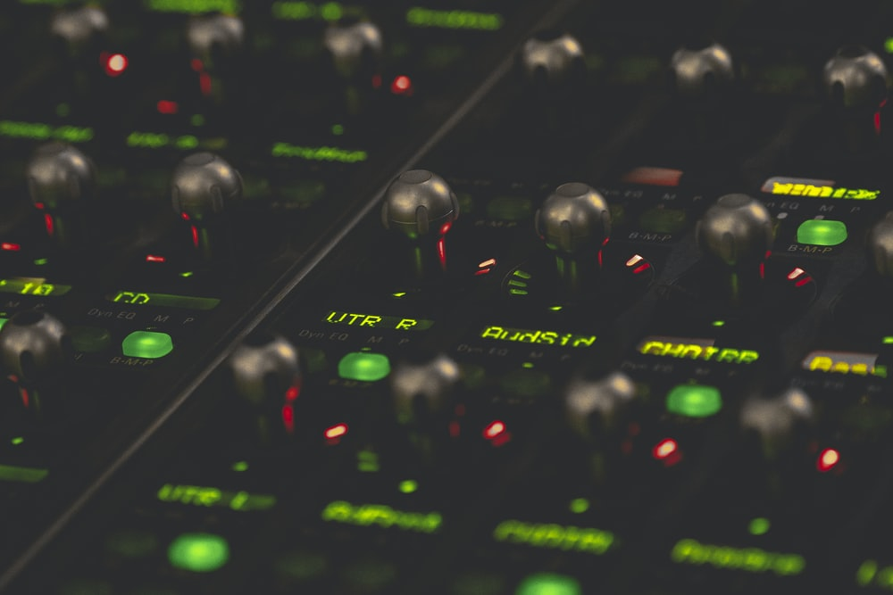 black and green audio equilizer