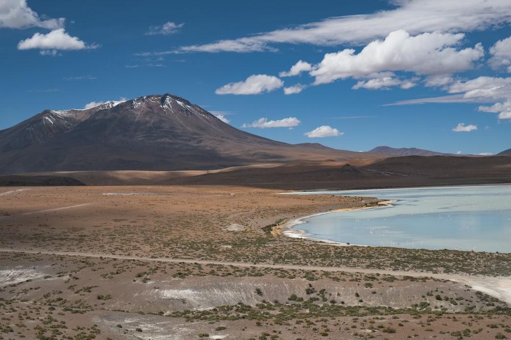 sea near volcano