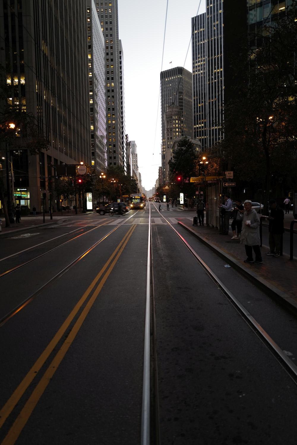 photo of asphalt road scenery