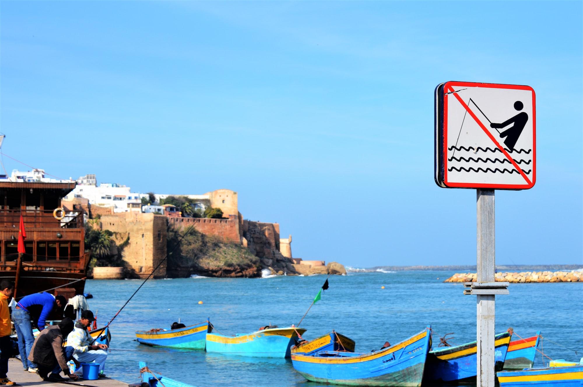 Sem pesca ... Sem problemas.  Esta foto foi tirada em Rabat, Marrocos