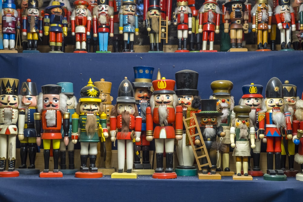 assorted-color nutcrackers