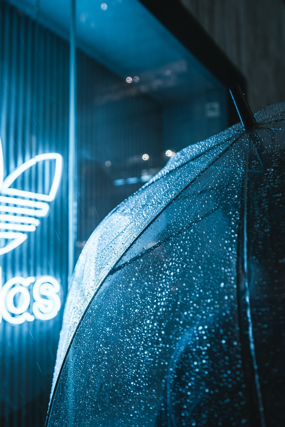 adidas neon signage