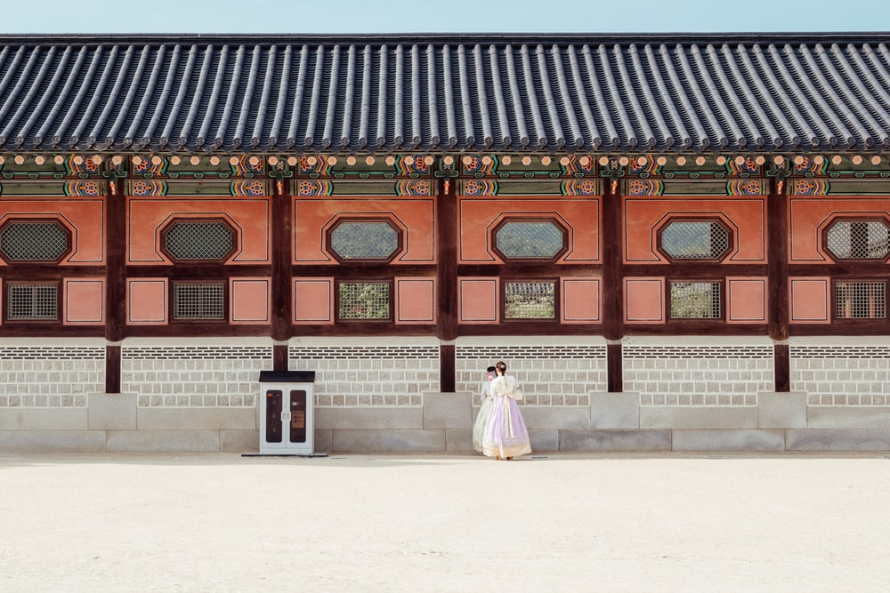 two Korean women at the palace