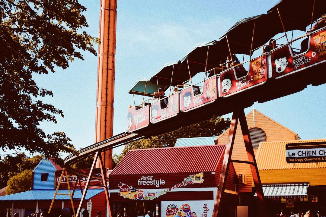 Little train in an amusement park