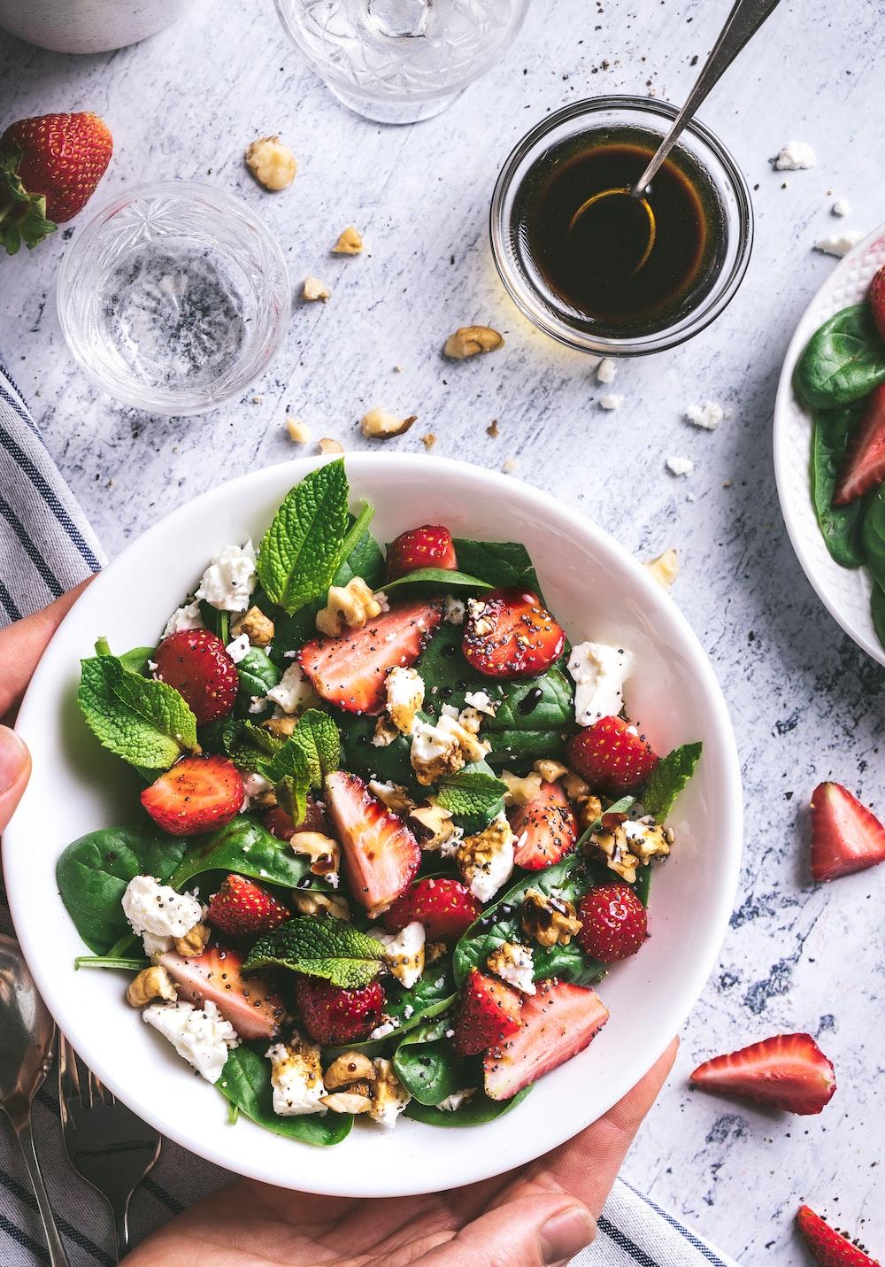 strawberry salad plate