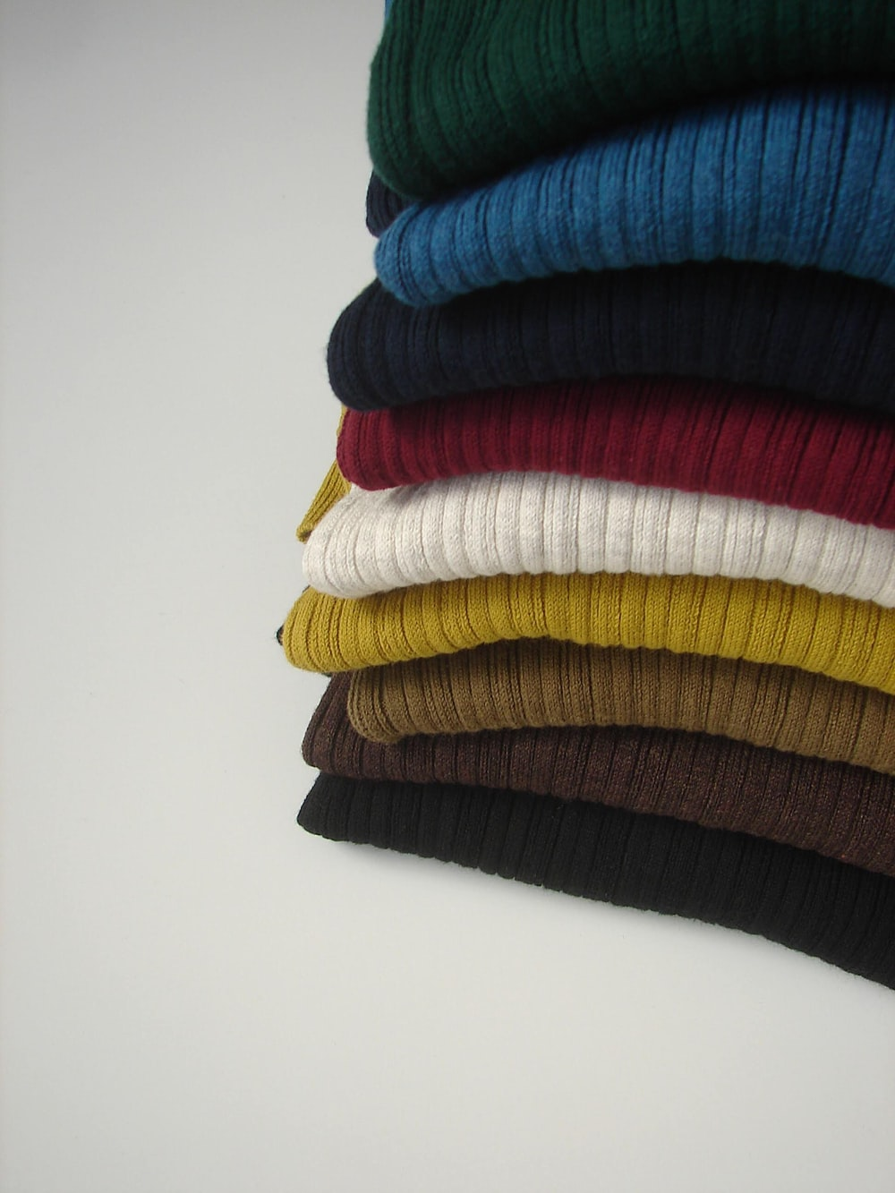 assorted-colored textiles