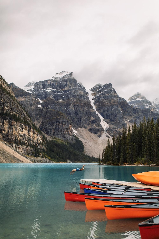 boats floating on lake