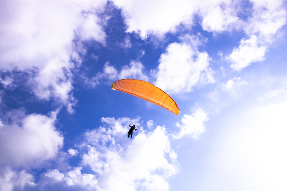 on flight paragliding
