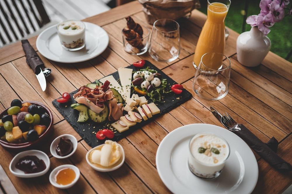 food on tray