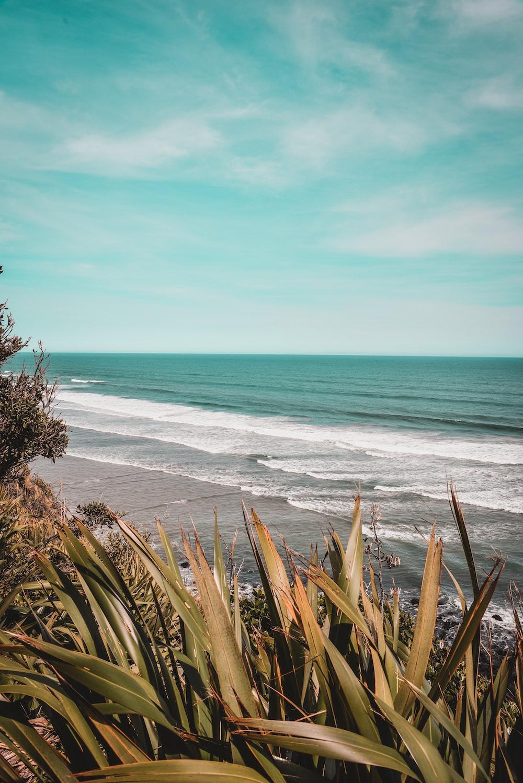 time-lapse photography of waves splashing on seashore