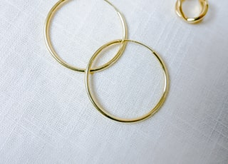 gold-color hoop earrings