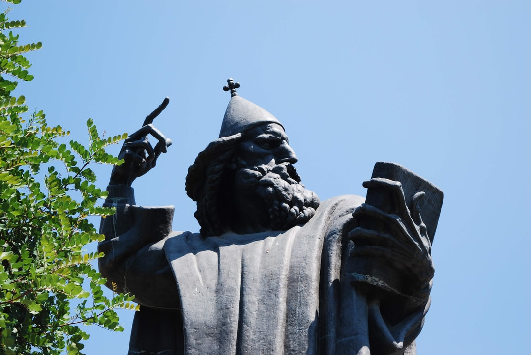 This is the 'Gregory of Nin' statue in Diocletian's Palace in the beautiful city of Split, on the coast of Croatia.