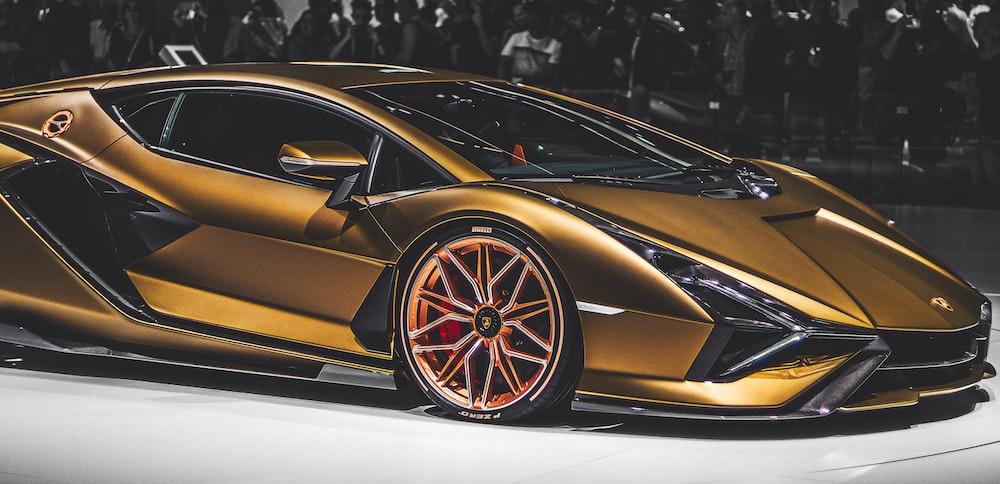 gold luxury car