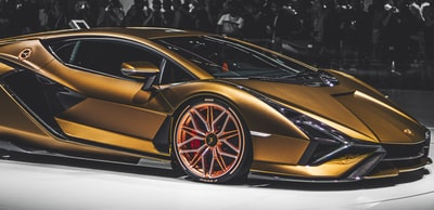 gold luxury car lamborghini zoom background
