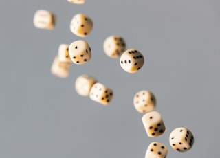 closeup photo of dices