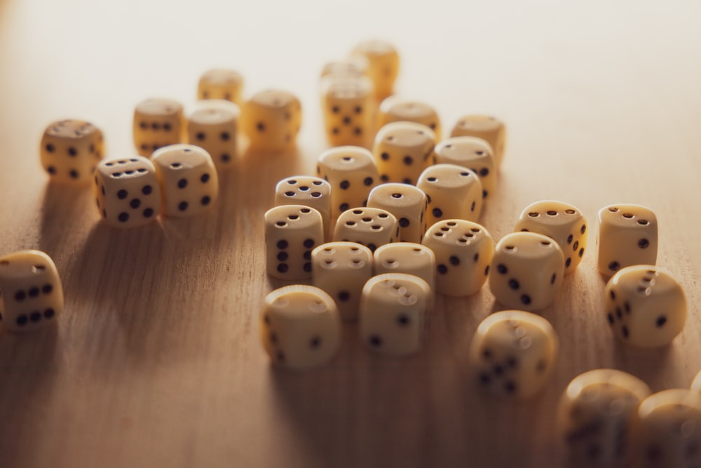 white-and-black dice