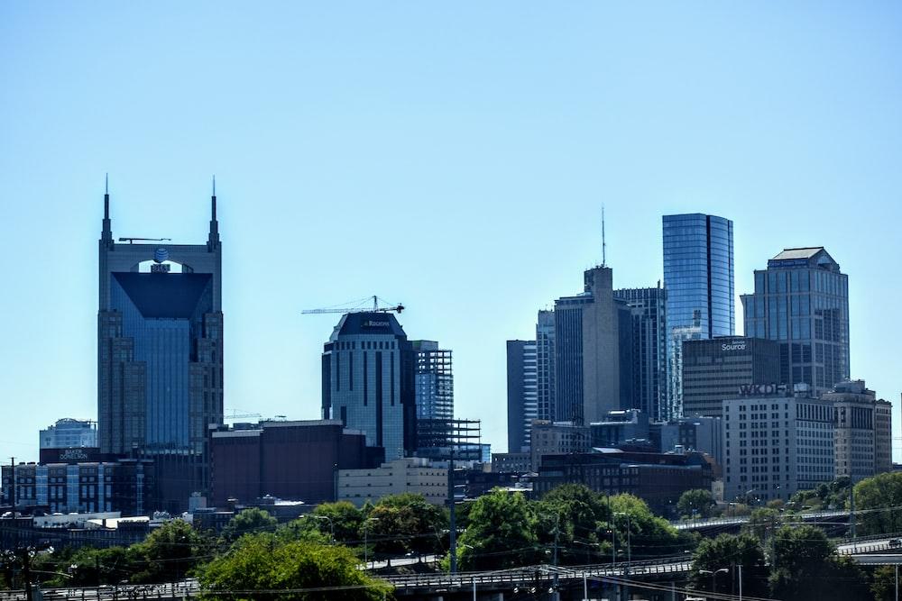 gray buildings under blue sky
