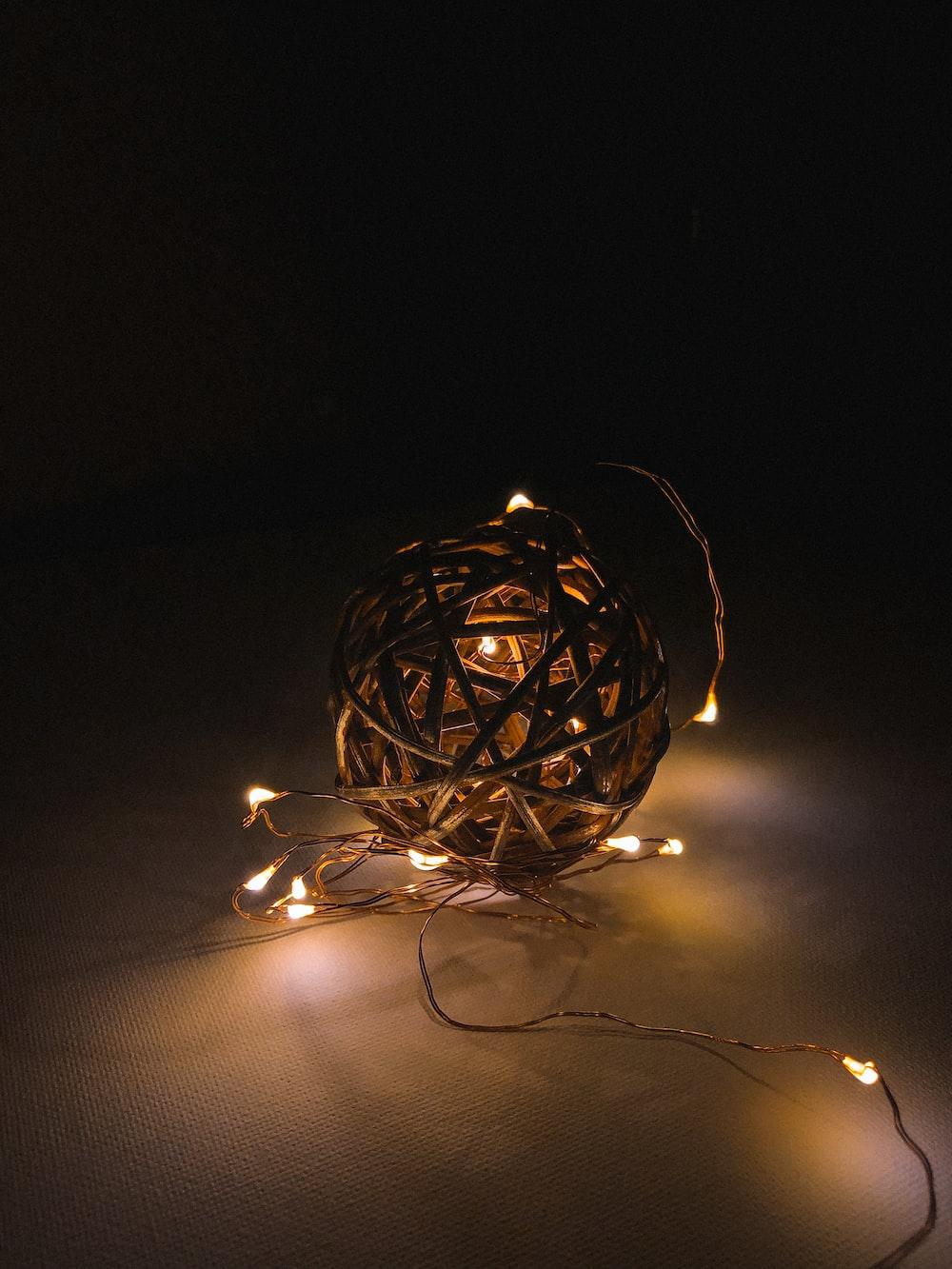 brown ball of light