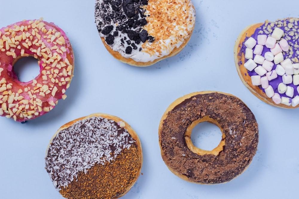five doughnuts