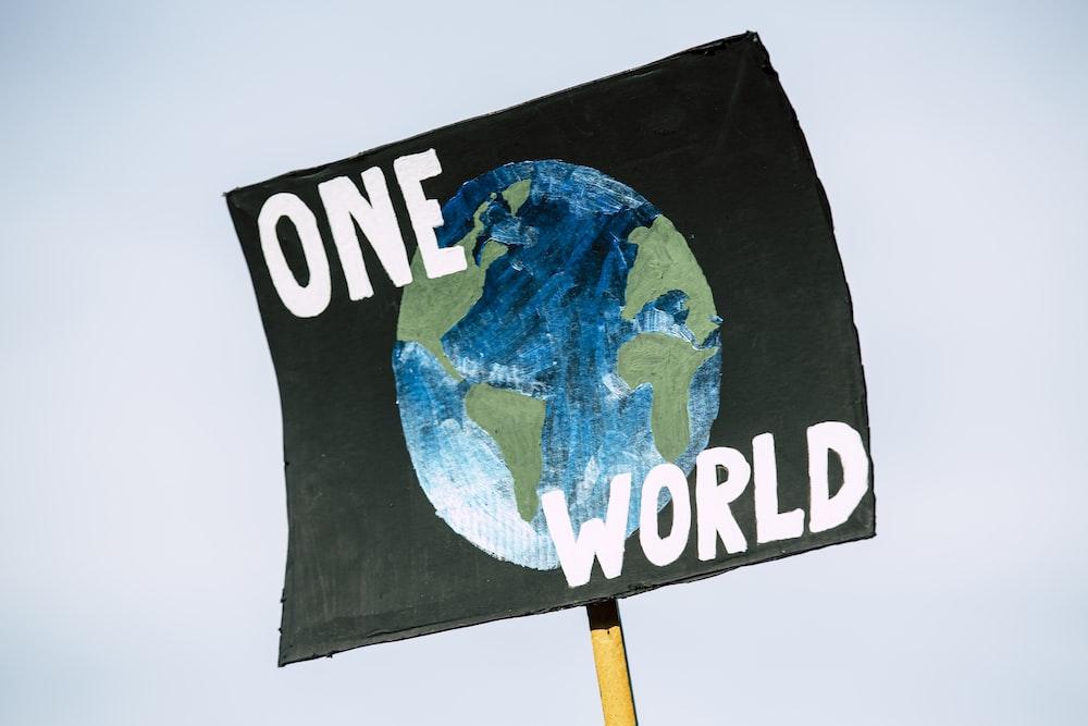 One World signage