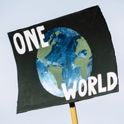 One World signage