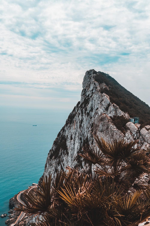 rock cliff facing ocean