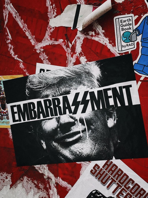 Embarrassment sticker