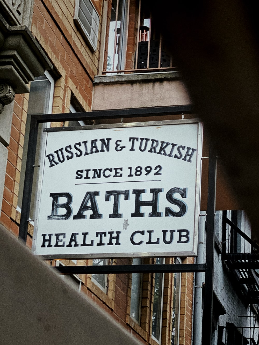 Russian & Turkish Baths sign
