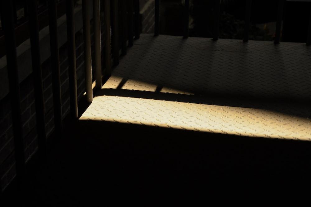 empty crib in dim room