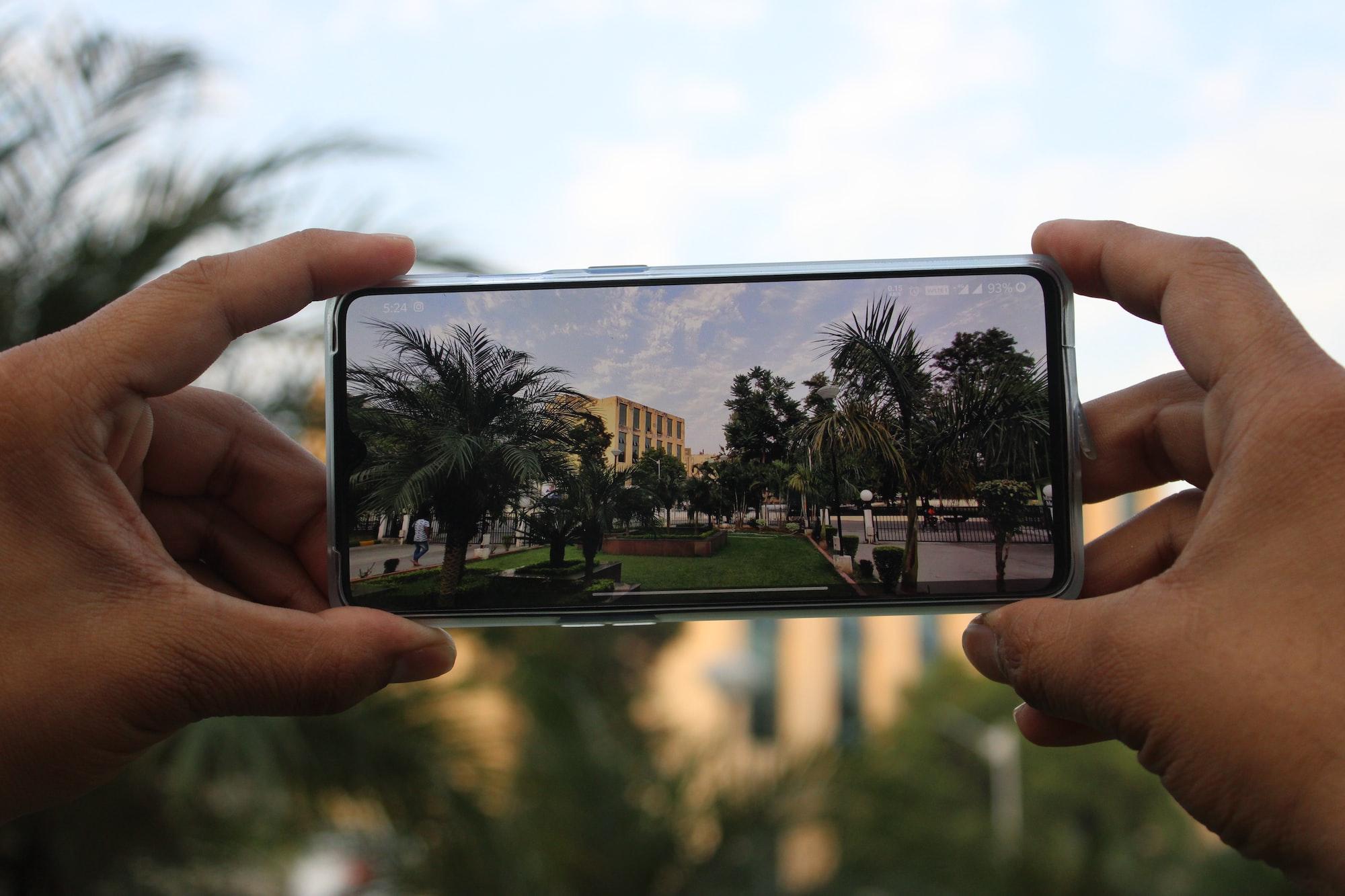 photo paysage smartphone