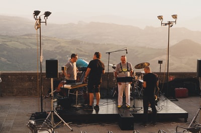 people performing on stage san marino zoom background