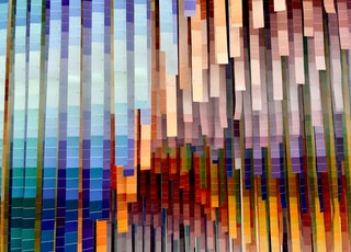 multicolored abstract wall art
