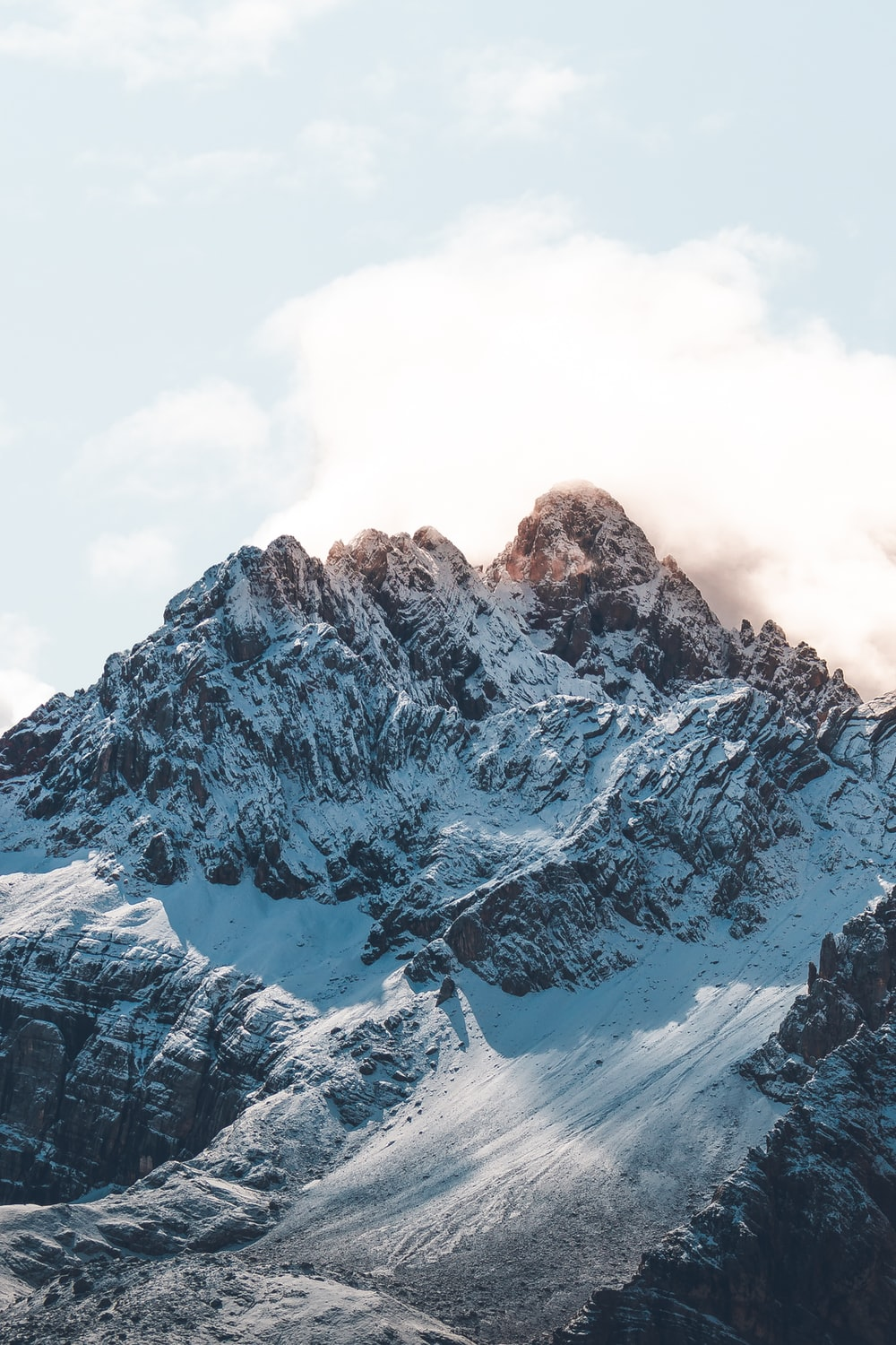 snow capped mountain during daytime